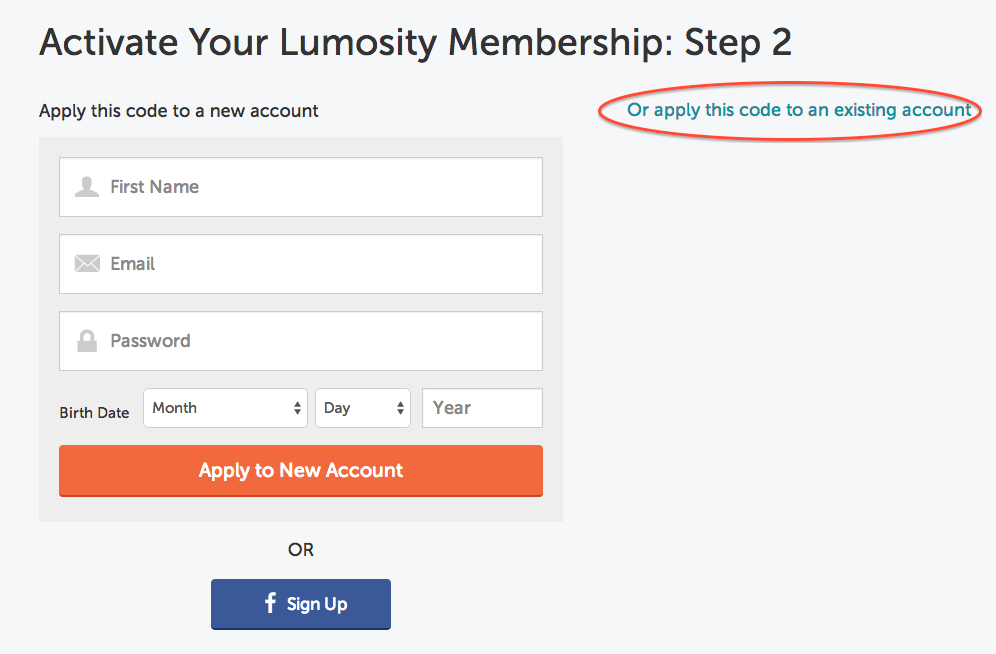 You are activating a pre-purchased Lumosity Subscription. Once you click